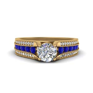 3-row-diamond-milgrain-engagement-ring-with-sapphire-in-FD8680RORGSABL-NL-YG
