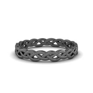 Black Gold Braided Eternity Band