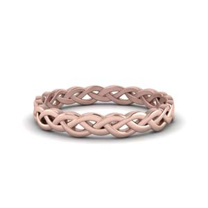 Braided Gold Wedding Band