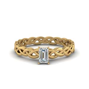 Braided Solitaire 1 Carat Ring