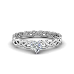 Braided Single Diamond Ring