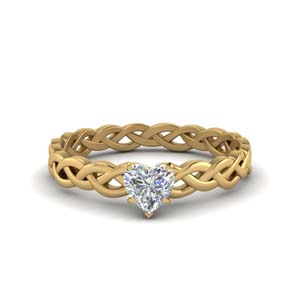Split Shank Heart Diamond Rings