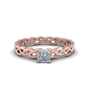 Eternity Braided Moissanite Solitaire Ring