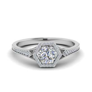 Pave Moissanite Engagement Rings