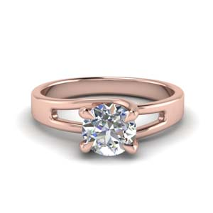 14K Rose Gold 4 Prong Ring