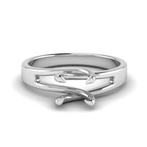 Swirl Solitaire Ring Setting