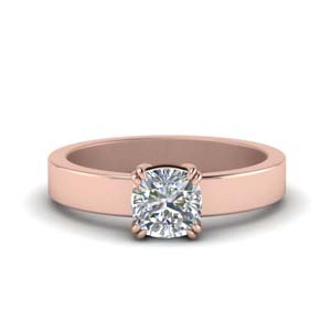 Flat Single Diamond Ring