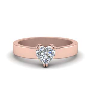 Solitaire Heart Diamond Rings