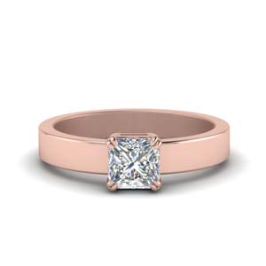 Princess Cut Solitaire Rings