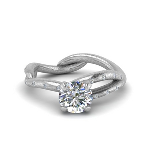 Branch Engagement Ring With Diamond