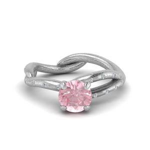 Branch Morganite Engagement Ring