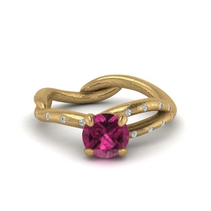 Branch Pink Sapphire Wedding Ring