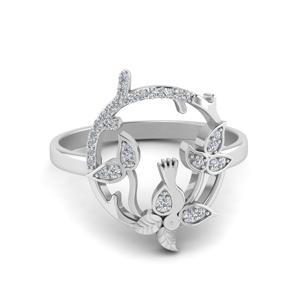 Bird Diamond Promise Ring