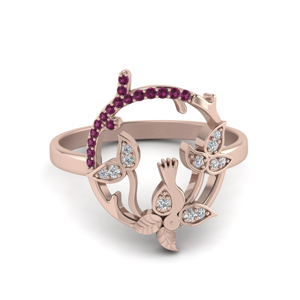 Pink Sapphire Promise Ring