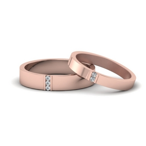 Flat Diamond Matching Couples Rings