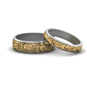 Engraved Matching Rings For Couples