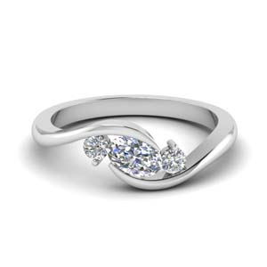 twist 3 stone engagement ring in FD8896 NL WG