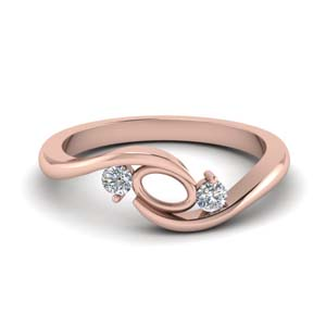 twist 3 stone semi mount engagement ring in FD8896SM NL RG