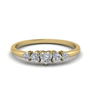 Heart Cut 5 Stone Ring
