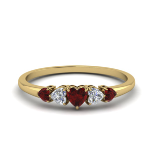 Heart Shaped 5 Stone Ring
