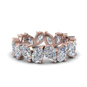 4 Ct. Pear Cut Diamond Eternity Band