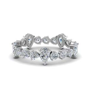 2.5 Ct. Pear Cut Diamond Eternity Band