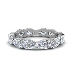 18K White Gold Diamond 3 Ct. Eternity Band