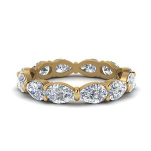 Pear Shaped Diamond Eternity Band