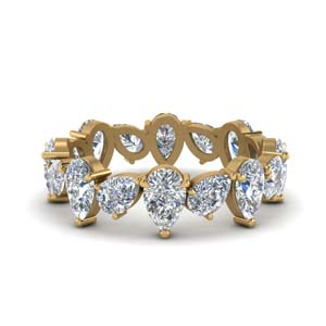 Pear Shaped Eternity Band Gold
