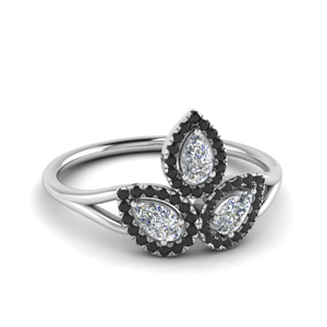 Black Diamond Contemporary Ring