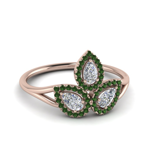 Unique Emerald Wedding Ring