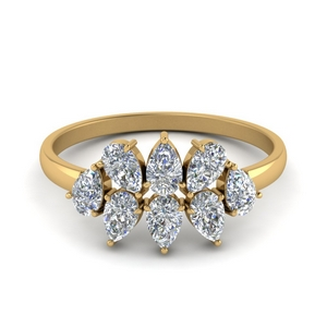 14K Yellow Gold Antique Diamond Band