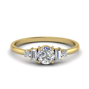 Delicate Diamond Baguette Ring
