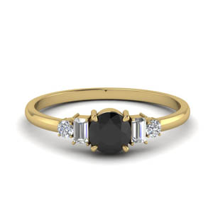 Delicate Black Diamond Ring