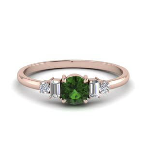 Emerald Baguette Diamond Ring