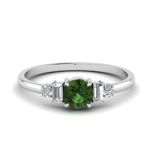 delicate baguette diamond wedding ring with emerald in FD9002ROGEMGR NL WG.jpg