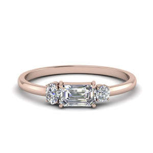 3 Stone Ring Rose Gold