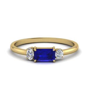 Alternate Ring With Sapphire