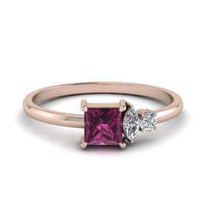 Non Traditional Pink Sapphire Ring