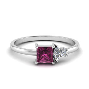 non traditional delicate diamond wedding ring with pink sapphire in FD9007PRGSADRPI NL WG.jpg
