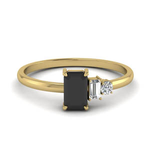 unconventional wedding ring for women with black diamond in FD9008EMGBLACK NL YG.jpg
