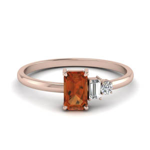 Orange Sapphire Ring For Women
