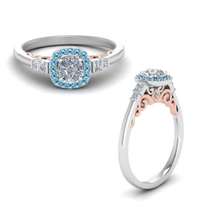 cushion cut delicate blue topaz halo diamond engagement ring in FD9011CURGICBLTOANGLE1 NL WG.jpg