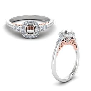 Delicate Halo Engagement Ring Setting