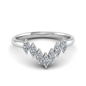 Marquise 7 Stone Curved Band