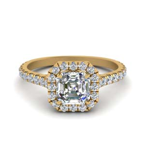 Asscher Cut Man Made Diamond Ring
