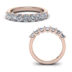 14K Rose Gold Women Wedding Band