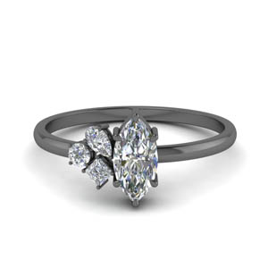 Non Traditional Petite Diamond Ring