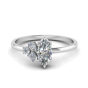 Platinum Unique Diamond Ring