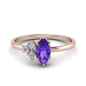Delicate Amethyst Wedding Ring